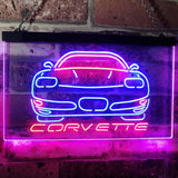 Chevrolet Corvette Neon-Like LED Sign - Dual Color - Red and Blue - SafeSpecial