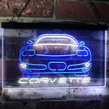 Chevrolet Corvette Neon-Like LED Sign - Dual Color - White and Blue - SafeSpecial