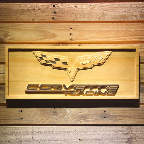 Chevrolet Corvette Racing Wooden Sign - Small - SafeSpecial