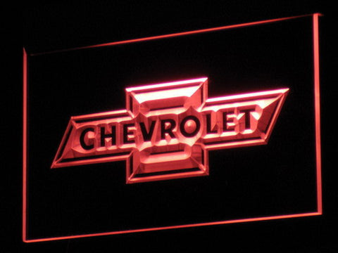 Image of Chevrolet Old Logo LED Neon Sign - Red - SafeSpecial