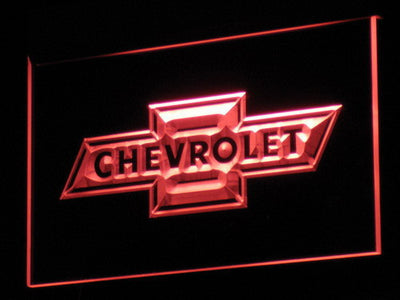 Chevrolet Old Logo LED Neon Sign - Red - SafeSpecial