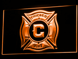 Chicago Fire LED Neon Sign - Orange - SafeSpecial