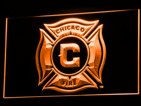 Image of Chicago Fire LED Neon Sign - Orange - SafeSpecial