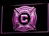 Chicago Fire LED Neon Sign - Purple - SafeSpecial