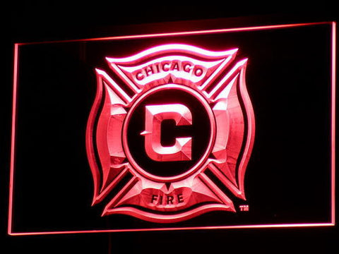 Image of Chicago Fire LED Neon Sign - Red - SafeSpecial