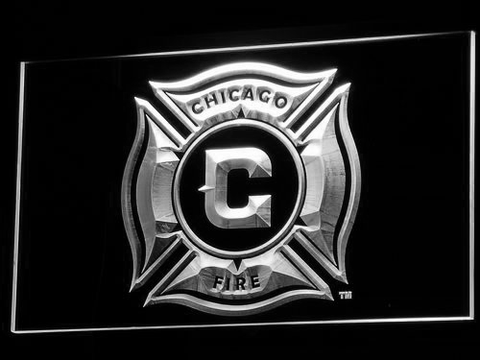 Image of Chicago Fire LED Neon Sign - White - SafeSpecial