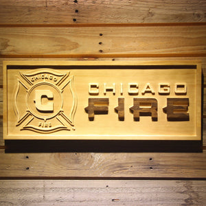 Chicago Fire Wooden Sign - Small - SafeSpecial