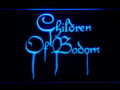 Children of Bodom LED Neon Sign - Blue - SafeSpecial
