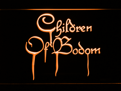 Image of Children of Bodom LED Neon Sign - Orange - SafeSpecial