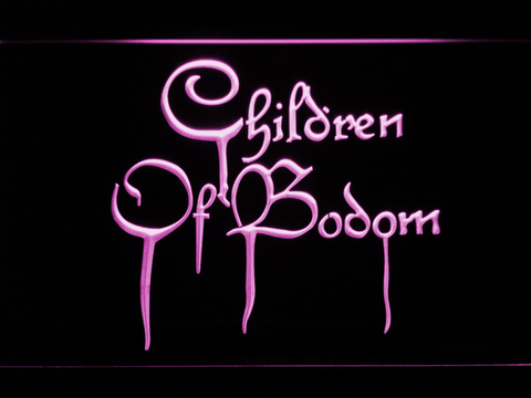 Image of Children of Bodom LED Neon Sign - Purple - SafeSpecial