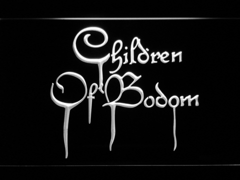 Image of Children of Bodom LED Neon Sign - White - SafeSpecial