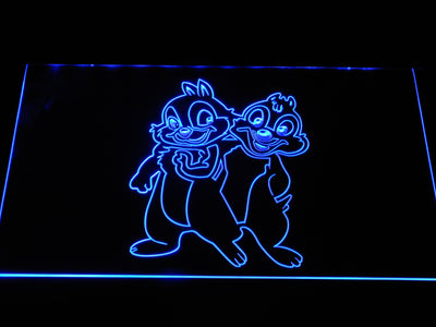 Chip 'n' Dale LED Neon Sign - Blue - SafeSpecial