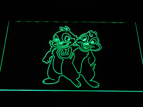 Image of Chip 'n' Dale LED Neon Sign - Green - SafeSpecial