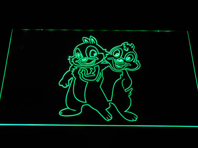 Chip 'n' Dale LED Neon Sign - Green - SafeSpecial