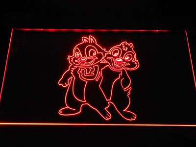 Chip 'n' Dale LED Neon Sign - Red - SafeSpecial