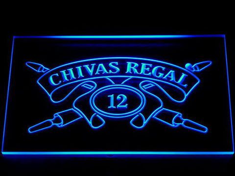 Image of Chivas Regal 12 LED Neon Sign - Blue - SafeSpecial