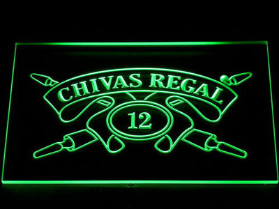Chivas Regal 12 LED Neon Sign - Green - SafeSpecial