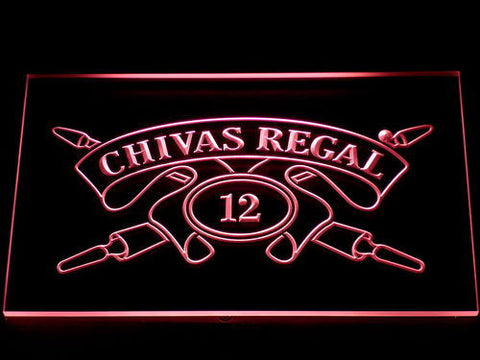 Image of Chivas Regal 12 LED Neon Sign - Red - SafeSpecial