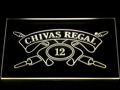Chivas Regal 12 LED Neon Sign - Yellow - SafeSpecial