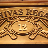 Chivas Regal 12 Wooden Sign - - SafeSpecial