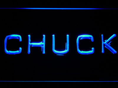 Chuck LED Neon Sign - Blue - SafeSpecial