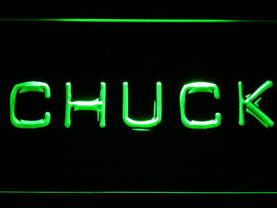 Chuck LED Neon Sign - Green - SafeSpecial