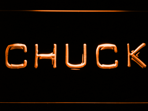 Image of Chuck LED Neon Sign - Orange - SafeSpecial