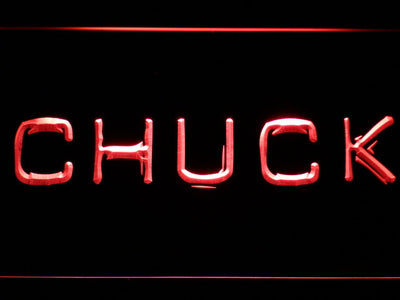 Chuck LED Neon Sign - Red - SafeSpecial