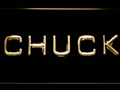 Chuck LED Neon Sign - Yellow - SafeSpecial