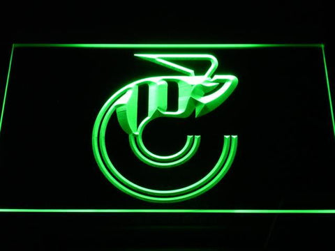 Cincinnati Stingers Logo LED Neon Sign - Legacy Edition - Green - SafeSpecial
