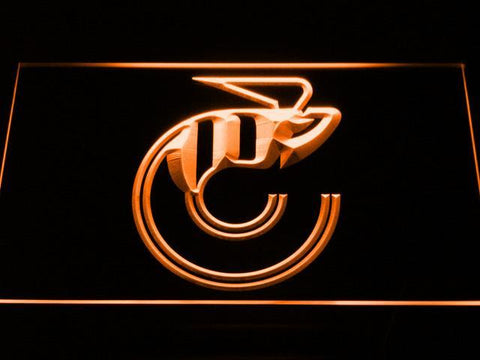 Cincinnati Stingers Logo LED Neon Sign - Legacy Edition - Orange - SafeSpecial