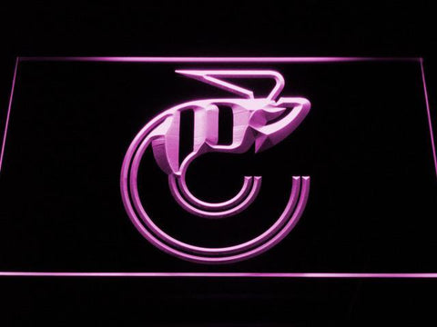 Cincinnati Stingers Logo LED Neon Sign - Legacy Edition - Purple - SafeSpecial
