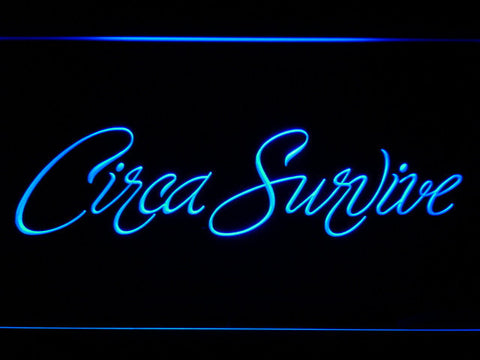 Image of Circa Survive Script LED Neon Sign - Blue - SafeSpecial