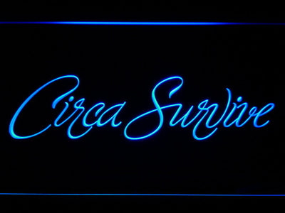Circa Survive Script LED Neon Sign - Blue - SafeSpecial