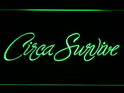 Circa Survive Script LED Neon Sign - Green - SafeSpecial