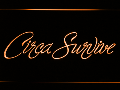 Image of Circa Survive Script LED Neon Sign - Orange - SafeSpecial