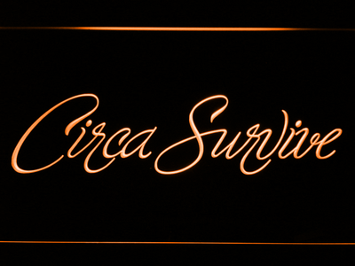 Circa Survive Script LED Neon Sign - Orange - SafeSpecial