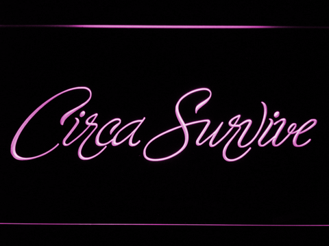 Image of Circa Survive Script LED Neon Sign - Purple - SafeSpecial