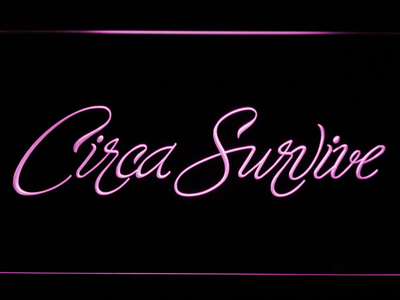 Circa Survive Script LED Neon Sign - Purple - SafeSpecial