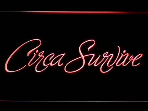 Image of Circa Survive Script LED Neon Sign - Red - SafeSpecial