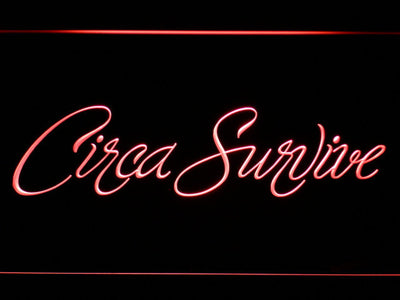 Circa Survive Script LED Neon Sign - Red - SafeSpecial