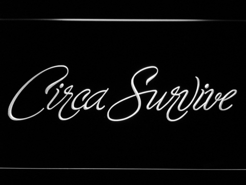 Image of Circa Survive Script LED Neon Sign - White - SafeSpecial