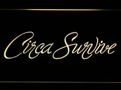 Circa Survive Script LED Neon Sign - Yellow - SafeSpecial