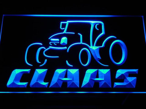 Claas LED Neon Sign - Blue - SafeSpecial