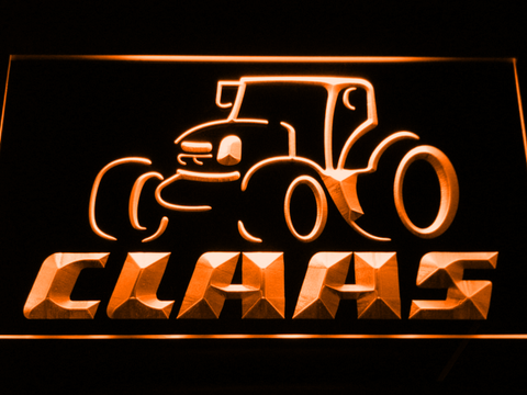 Claas LED Neon Sign - Orange - SafeSpecial