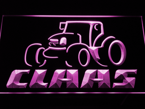 Claas LED Neon Sign - Purple - SafeSpecial