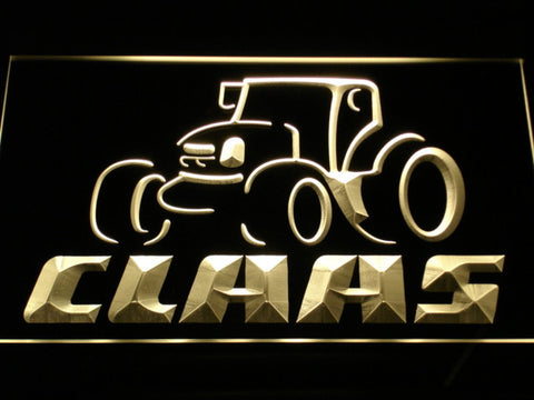 Claas LED Neon Sign - Yellow - SafeSpecial
