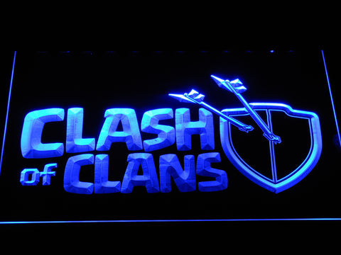 Clash of Clans LED Neon Sign - Blue - SafeSpecial