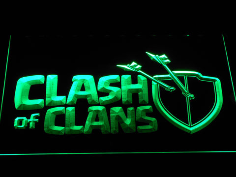 Clash of Clans LED Neon Sign - Green - SafeSpecial