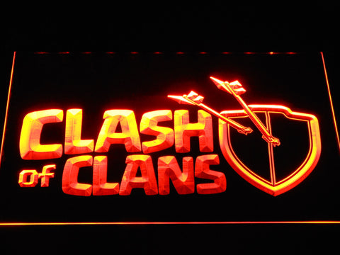 Clash of Clans LED Neon Sign - Orange - SafeSpecial